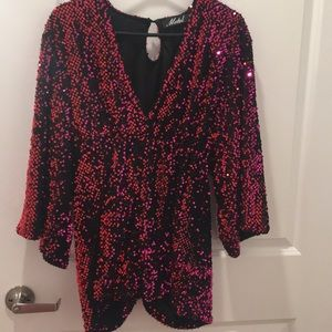 Sequin romper size XS Urban Outfitters